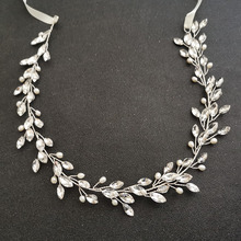 Floralbride Handmade Freshwater Pearls Austrian Crystal Bridal Jewelry Set Wedding Headband Bracelet Earring Set Women Jewelry faux crystal wedding jewelry set