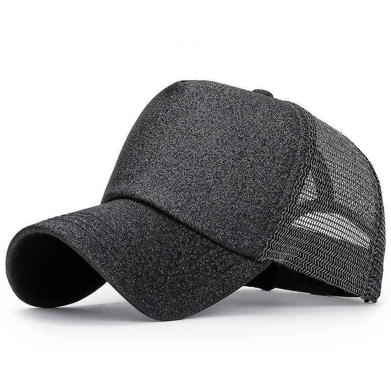 Erkek beyzbol şapkası düz renk yaz file şapka şapka erkekler kadınlar için Snapback Gorras Hombre şapkalar rahat Hip Hop kapaklar baba şapka