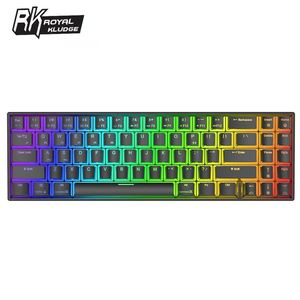 Royal Kludge RK71 Mechanical Gaming Keyboard 71Keys Small bluetooth 3.0 Wireless USB Dual Mode RGB Backlit Blue Brown Red Switch(China)