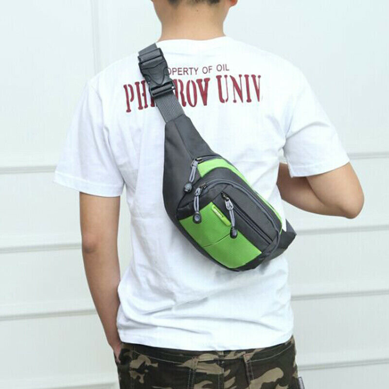 Men Sports Canvas Waist Pack Bag Waist Bag Cycling Fanny Pack Adjustable Belt Pouch Phone Cash Holder Pocket /BY