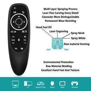 Image 3 - G10S Pro Backlit Air Mouse Gyroscope Voice Search 2.4G Wireless Smart Remote control with Microphone for Android tv box H96 MAX