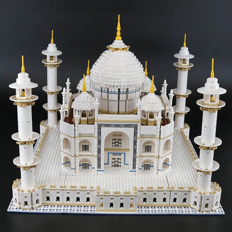 DHL 17008 O Taj Mahal Modelo Conjunto de Blocos de Construção Tijolos Compatível Com 10256 10189 Brinquedos Educativos Presentes de Aniversário Para Crianças