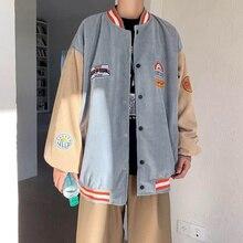 Spring Baseball Clothes Couple Japanese College Corduroy Baseball Uniform Jackets Harajuku Style Retro Hong Kong Flavor Jacket