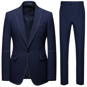 Image 1 - גברים חליפות 2 Piece סטי מעצבי אחת אבזם חתן חתונה שמלת Slim Fit פורמליות משרדים קלאסי לנשף חליפת מעיל מכנסיים