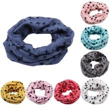Детский хлопковый шарф с круглым вырезом, милый детский теплый шарф с принтом, Детские воротники, осенне-зимний шарф с круглым кольцом для мальчиков и девочек, аксессуары для детской одежды