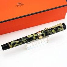 Jinhao 100 Centennial Resin Fountain Pen 18KGP Medium / Bent Nib 0.6 /1.2mm Golden Clip with Converter Business Office Gift Pen