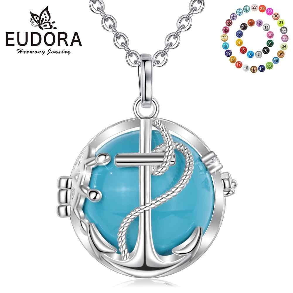 Eudora 20mm Harmony Bola topu çapa kolye Chime topu melek arayan hamile takı hamile Bola madalyon kolye hediye K177