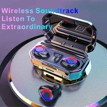 Nowe słuchawki bezprzewodowe TWS Bluetooth 5 0 słuchawki sportowe wodoodporne słuchawki HiFi 9D douszne słuchawki basowe Stereo z mikrofonami tanie i dobre opinie Briame Zaczepiane na uchu Rohs WEEE Technologia hybrydowa CN (pochodzenie) Prawdziwie bezprzewodowe 32dB 28mW Do kafejki internetowej