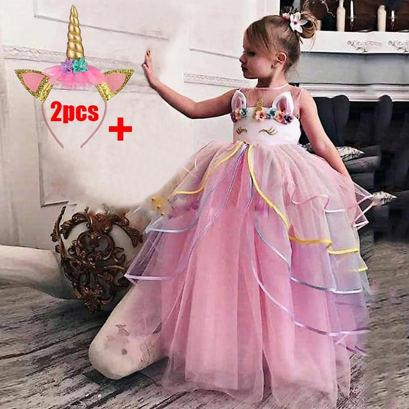 2020 детская одежда элегантное платье для причастия для девочек, кружевное платье принцессы платье из тюля для малышей LP-209