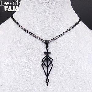 Женский Готический кулон, черный кулон из нержавеющей стали с крестом FAJA, N4126S01, 2020