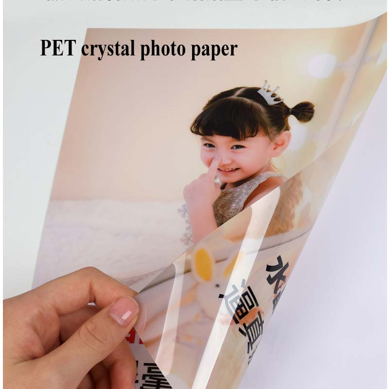 A4 High Gloss Adhesive Photo Paper Pet Crystal Adhesive Photo Paper Inkjet Printing Bank Card Certificate Various Card Stickers