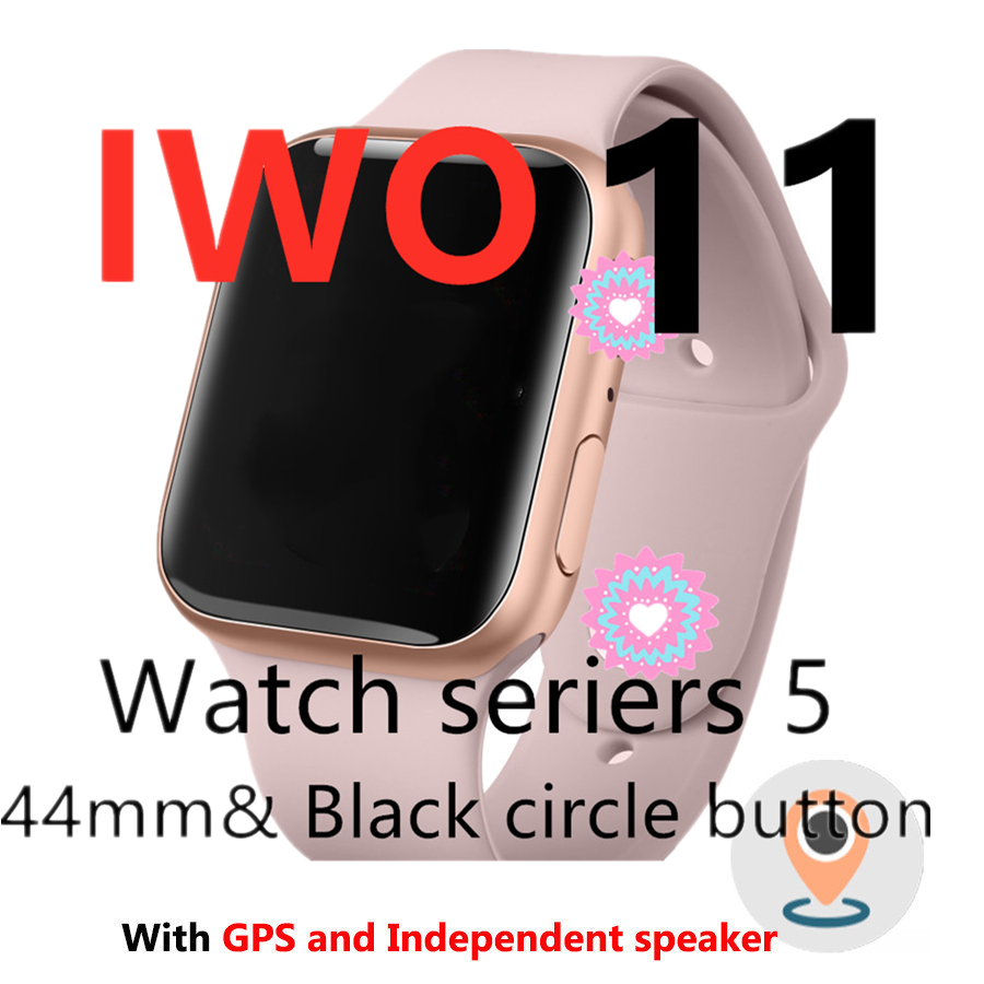 IWO 11 Smart Watch Bluetooth 1:1 Series 5 GPS Inteligente Pulseira SmartWatch Android for IOS Upgrade IWO 10 9 8 7 6 5 image