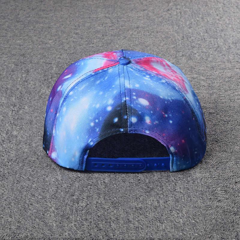 남자와 여자 십대 힙합 모자 만화 패턴 디자인 별이 빛나는 하늘 모자 패션 야외 야구 모자