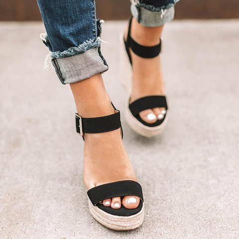 Ladies Shoes Woman Chaussure Gladiator Women Wedge Summer Sandals Pumps Cross-tied High Heels Platform Uncategorized Fashion & Designs Ladies Shoes Women's Fashion