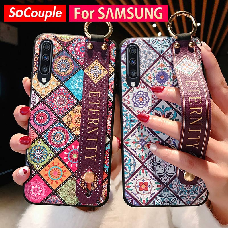 SoCouple Wrist Strap Case For Samsung Galaxy S8 S9 S10 Plus S10e A70 A60 A50 A40 A30 A20 A10 Note 8 9 10plus Phone Holder Case
