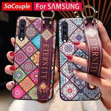 SoCouple чехол для samsung Galaxy A50 A70 A30 A20 A10 S8 S9 S10 Plus, Note 8, 9, 10, плюс A40 A60 S10e ремешок держатель телефона чехол