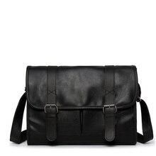 Moda erkek deri omuz çantaları seyahat çantası erkek evrak çantası marka lüks askılı çanta erkek dizüstü iş Crossbody erkek çantası