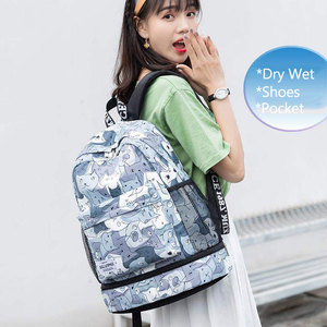 Image 3 - Women Gym Backpack Flower Fitness Bag Sac De Sport Bags Dry And Wet Independent Shoes Bags Female Bolsa Deporte Gymtas XA906WA