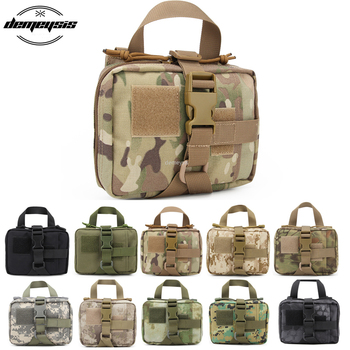 цена на Tactical Molle First Aid Bag Nylon Military Medical Pouch EMT Emergency Survival Utility Airsoft Hunting EDC Bags