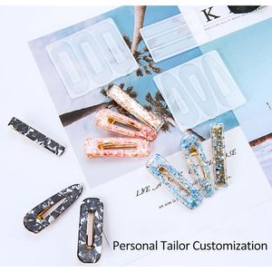Resin Silicone Crystal Epoxy Mold Homemade Personality DIY Hair Clip Girl Temperament Hair Clip Barrette Mould Jewelry Tools(China)