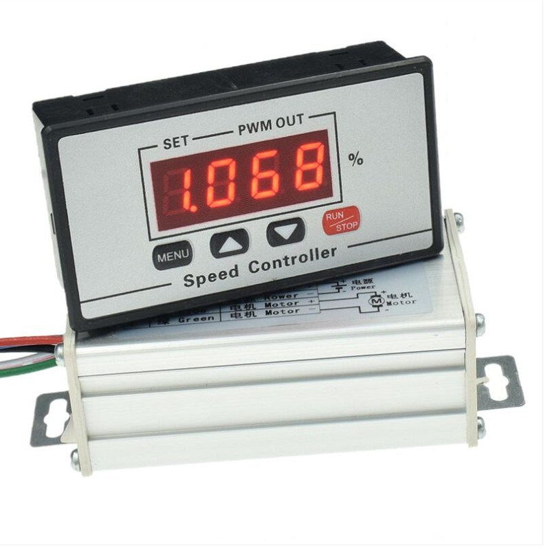 Digital Display Panel 30A Dc 6V~60V Pwm Motor Speed Controller Slow Start//S