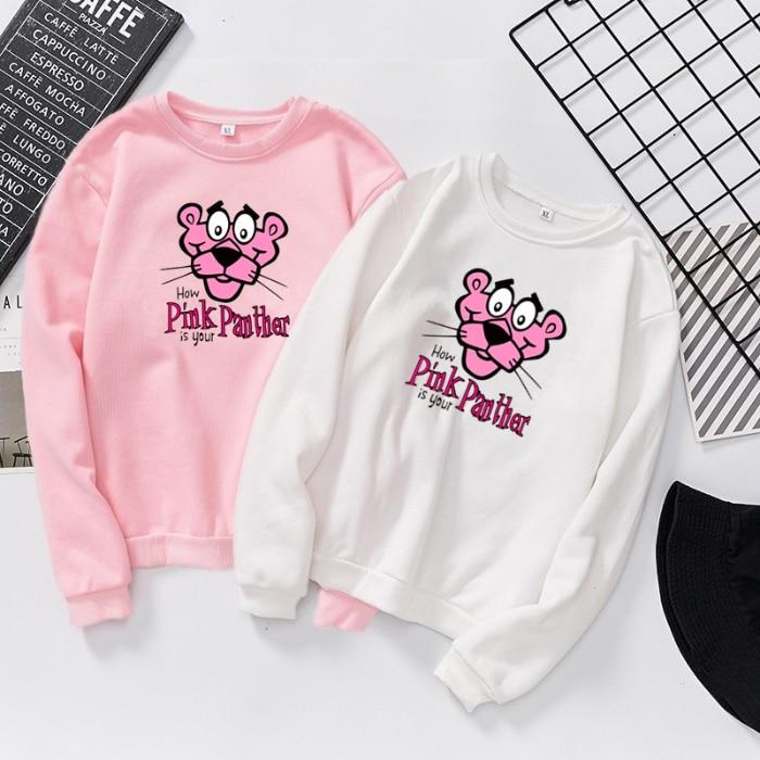 S642 Panther Women Hoodies Fall 2020 Casual Hoodie Pocket  Pullover Sweatshirt Pastel Clothes Bluzy Damskie Z Kapturem