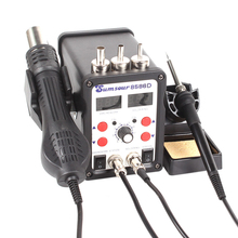 ESD Soldering Station 8586D Double Digital Display Electric Solder Iron Hot Air Het Gun SMD BGA Rework Welder Desoldering Repair