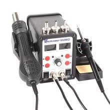 Estación de soldadura ESD 8586D, soldador de doble pantalla Digital, pistola de aire caliente eléctrica SMD, soldador de BGA refundido, reparación de desoldar
