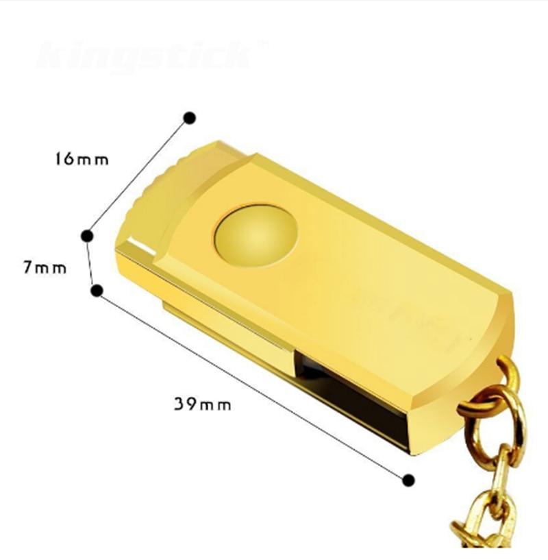 Mini metal usb flash drive 32GB 128gb usb 2 0 pen drive 64GB 16GB 8GB waterproof Gold key pendrive memory stick free shipping in USB Flash Drives from Computer Office