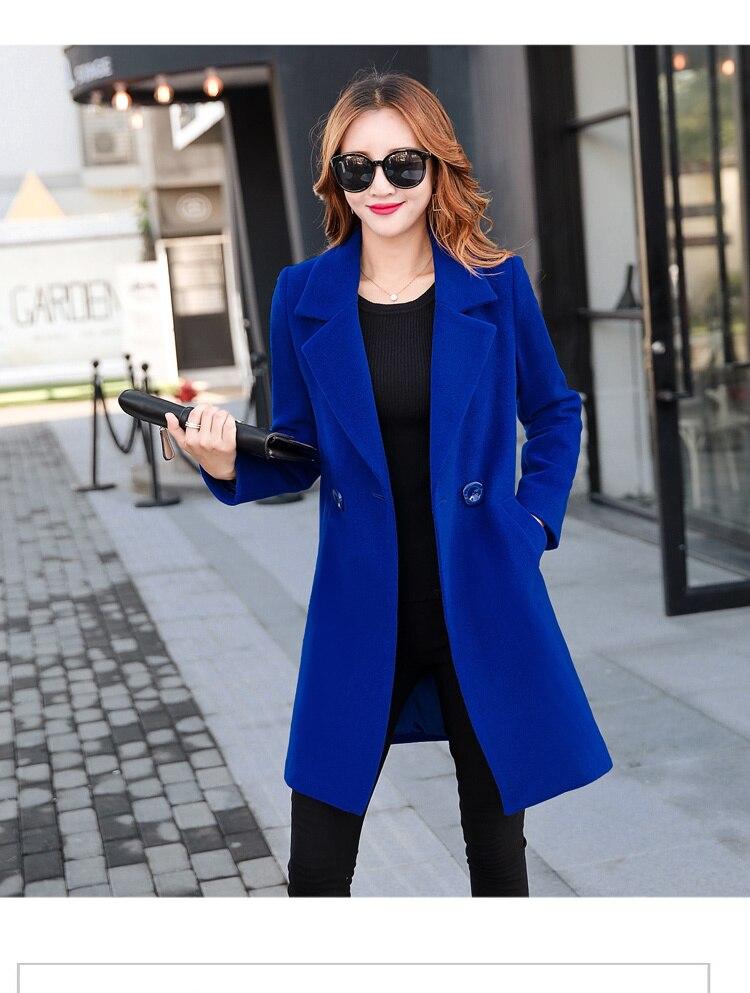YICIYA Winter autumn Coat Women Wool Jacket Long Oversized Coats Plus Size Large Black Blend Woolen Warm Outerwear 2019 Clothing 35