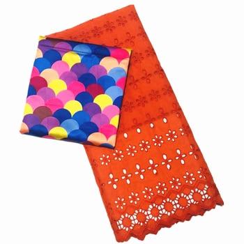 Tejido de seda de satén suave de estilo más nuevo diseño de cera Africana + Tejido de gasa Suiza ahueca hacia fuera las telas nigerianas de Ankara ¡caliente!