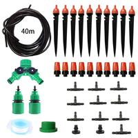 40 meters Garden Watering Kits Plastic Adjustable Misting Nozzle Agriculture Micro Irrigation 8 Holes Dripper