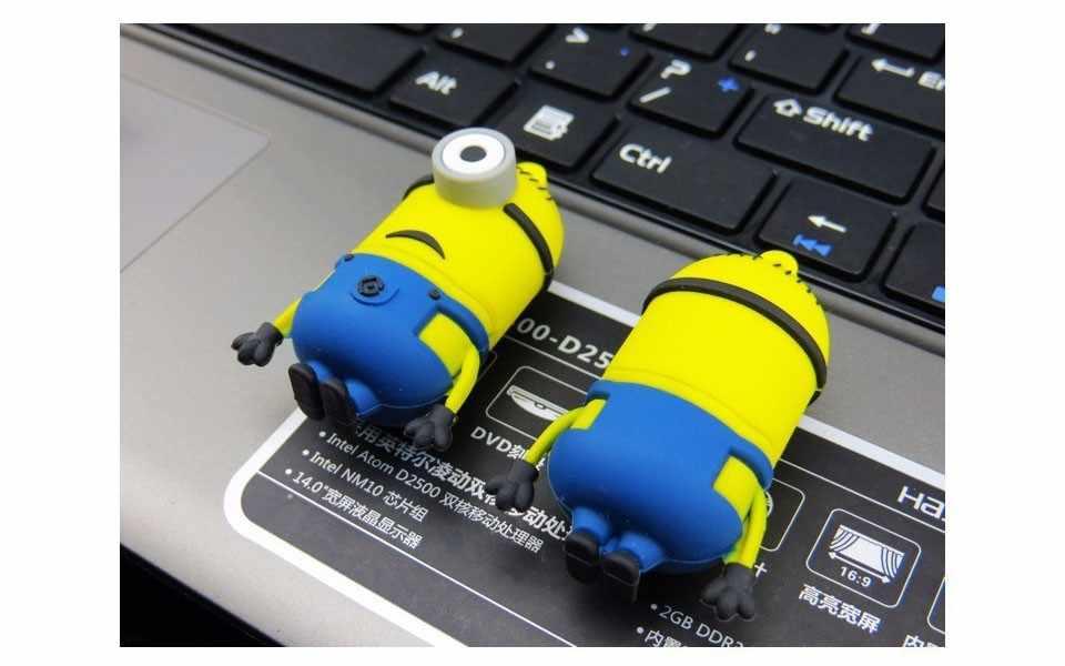 Chaud! Mini clé usb drôle mignon minion clé usb 4GB 8GB 16GB 32GB 64GB 128GB clé usb clé usb en gros