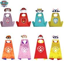 Paw Pattuglia Giocattolo Set di Halloween Personaggio Dei Cartoni Animati Del Partito di Cosplay Cosplay Costume Patrola Kanina Maschera Mantello Per Bambini Giocattolo