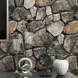 3D модель мраморные каменные обои бар ресторанный в китайском стиле отель винтажный кирпичный узор кирпичи камни для украшения обои