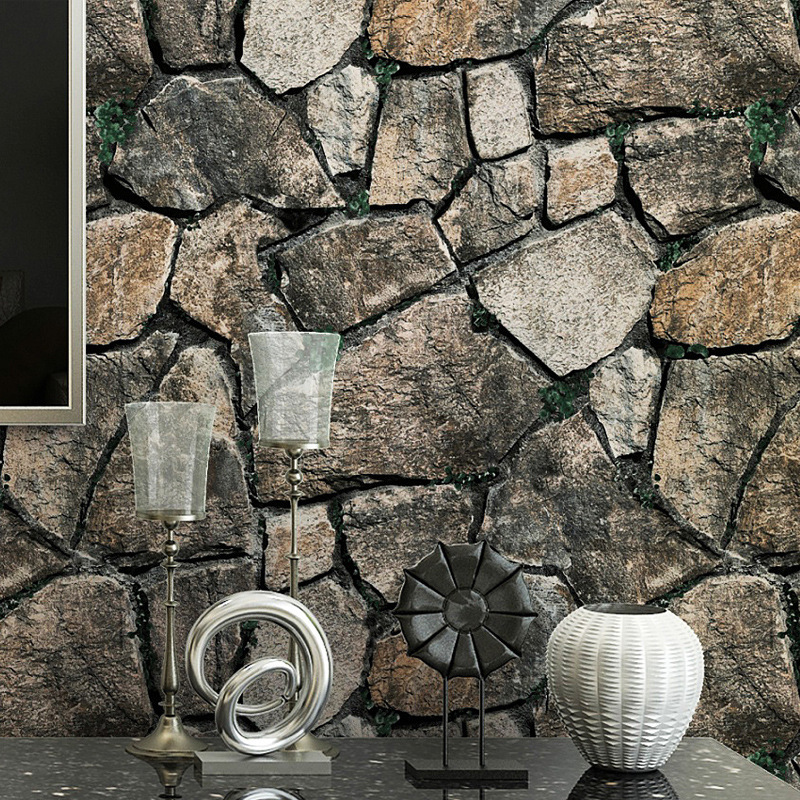 3D Model Marbling Stone Wallpaper Bar Chinese Style Restaurant Hotel Vintage Brick Pattern Bricks Art Stone Wallpaper
