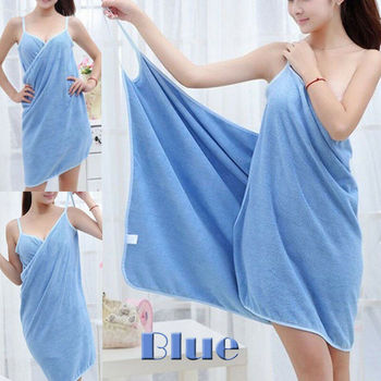 Home Textile Towel Women Robes Bath Wearable Towel Dress Womens Lady Fast Drying Beach Spa Magical Nightwear Sleeping image