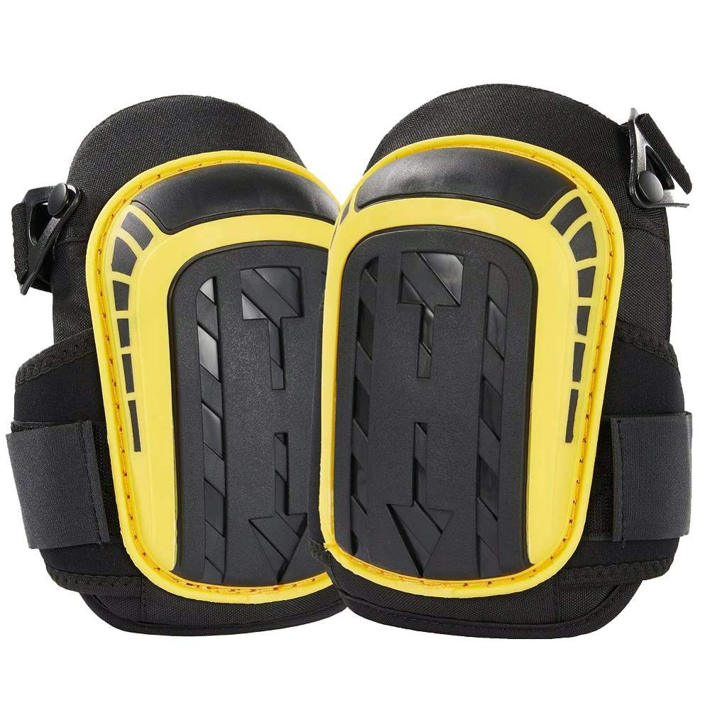 Knee Pads For Work-Heavy Duty  Foam Padding And Gel Cushion With Adjustable Straps For Construction, Flooring, Gardening