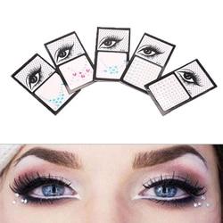5 Colors Tattoo Sticker Glitter Diamond Makeup Eyeliner Eyeshadow Face Rhinestone Sticker Jewelry Eyes Makeup Crystal Stickers