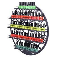 5 Tier Metal Circular Nail Polish Display Organizer Wall Rack Stand Holder Storage Shelf