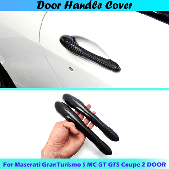 Car handle cover For Maserati GranTurismo S MC GT GTS Coupe 2 DOOR 2008-2017 car Handle Cover accessories 100% real carbon fiber image