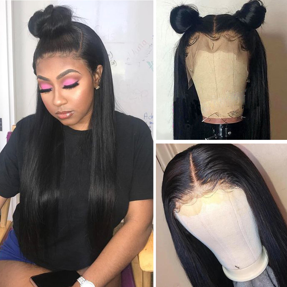 Image 2 - 360 Lace Frontal Wig Pre Plucked With Baby Hair Hot Star Brazilian Straight Human Hair Wigs 150% Remy Hair Glueless Lace Wig-in Human Hair Lace Wigs from Hair Extensions & Wigs
