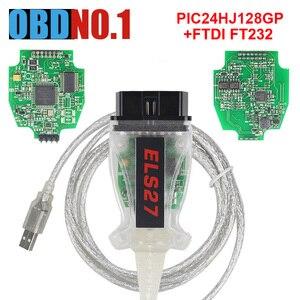 Image 2 - ELS27 FORScan PCBสีเขียวPIC24HJ128GP + FTDI Mircochip Multi Language ELM327 & J2534 Pss ThruสำหรับMazdaสำหรับFord