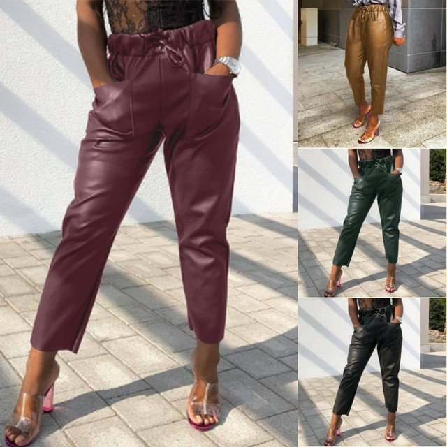 Women's PU Leather Trousers 2