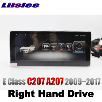 LiisLee Car Multimedia Player NAVI For Mercedes Benz MB E Coupe C207 A207 RHD 2009~2017 Right Hand Drive Radio GPS Navigation image