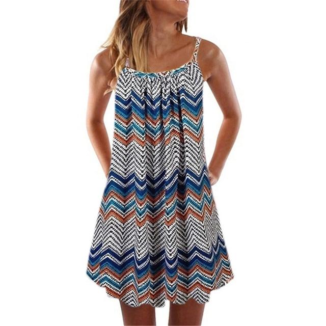 Loose Beach Dress With Spaghetti Straps 5
