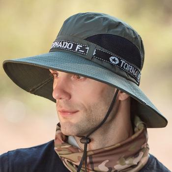 Czapki wędkarskie kapelusze wiadro męskie kapelusze letnie Lettered Outdoor Topee wspinaczka górska czapki wędkarskie odporne na słońce kapelusze przeciwsłoneczne tanie i dobre opinie JC-59 List Parasolka Poliester