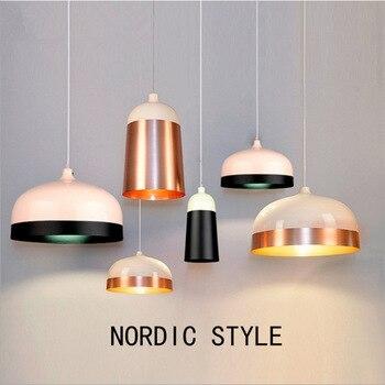 modern simple Internet bar aluminum chandelier bar restaurant single head fishline lamp personalized iron lighting