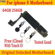 Mainboard Touch-Id Unlocked iPhone 8 256GB 64GB for With/without Ios-System 100%Original