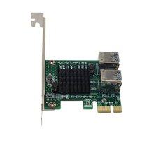Riser Card Pci-E To Pci-E Riser Card 1 To 4 Pci-Ex1 To Pci-Ex16 Graphics Interface One To Four Adapter Card pci e riser card for rsc r1uu e8r rev 1 0 original 95%new well tested working one year warranty